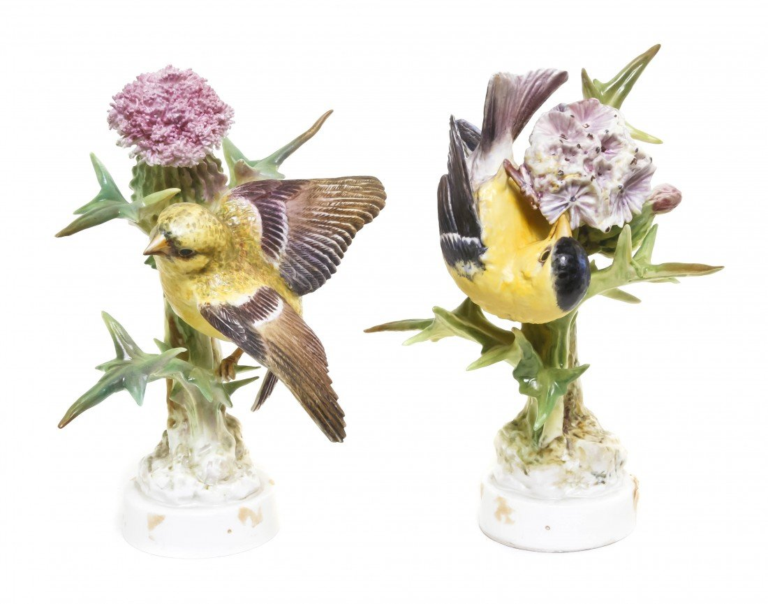 874: A Pair of Royal Worcester Dorothy Doughty Birds, A