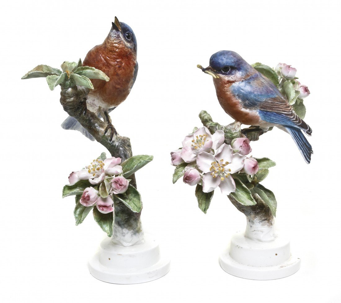875: A Pair of Royal Worcester Dorothy Doughty Birds, B