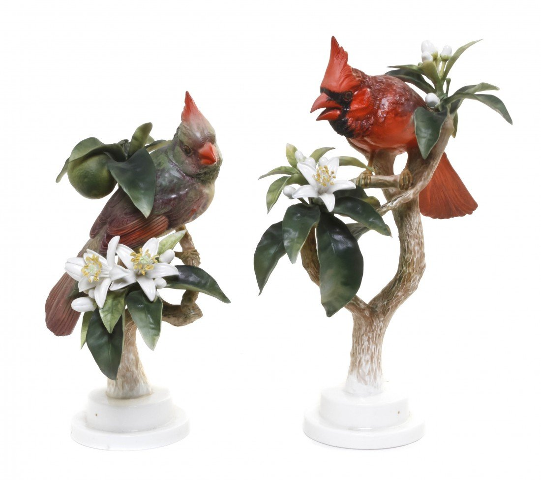 877: A Pair of Royal Worcester Dorothy Doughty Birds, R