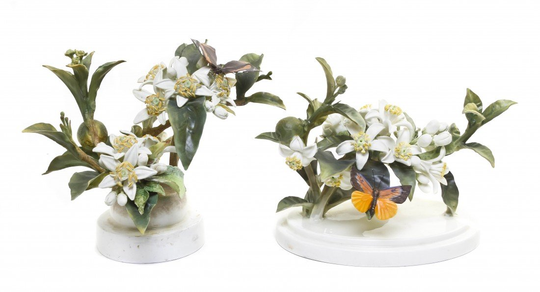 878: A Pair of Royal Worcester Dorothy Doughty Orange B