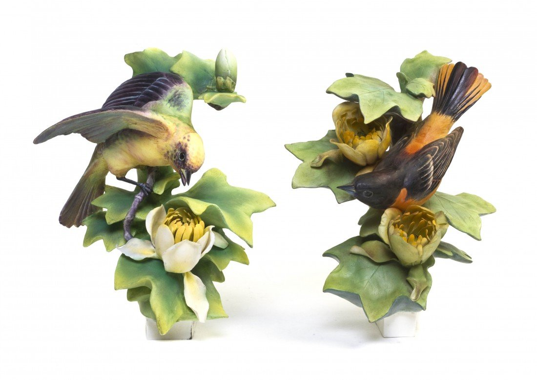 881: A Pair of Royal Worcester Dorothy Doughty Birds, B