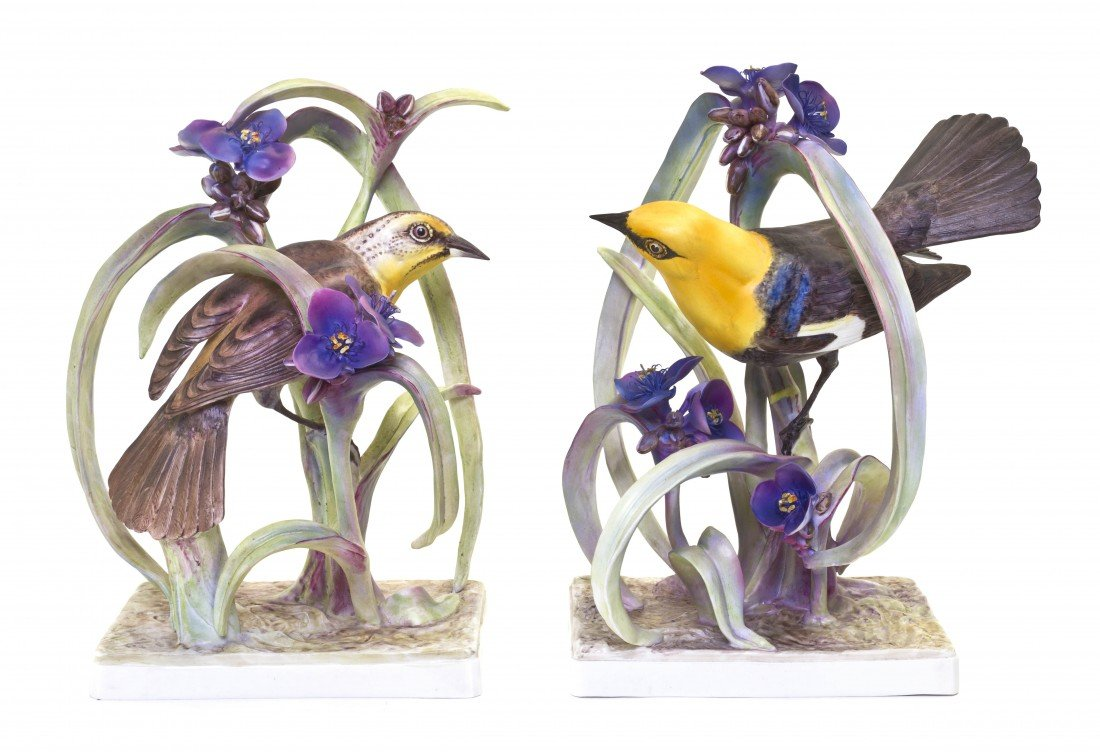 891: A Pair of Royal Worcester Dorothy Doughty Birds, Y
