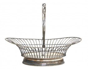 An English Silver Basket, Richard Morton & Co., Wi