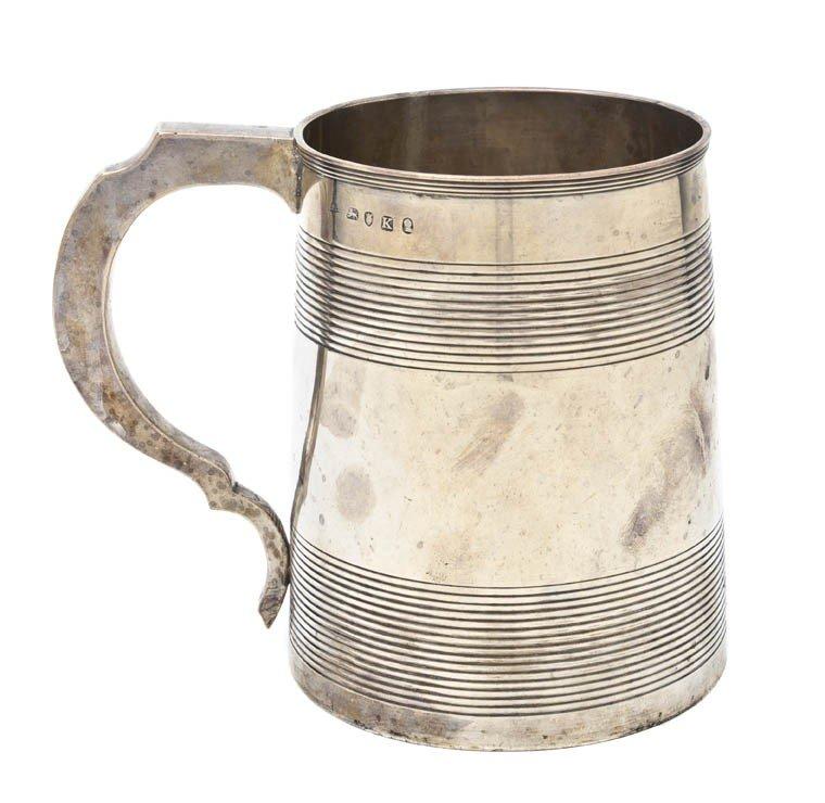 946: An English Silver Mug, Stephen Adams II, Height 5