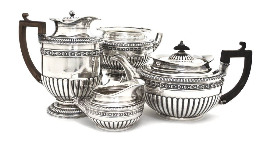 951: An English Four-Piece Tea and Coffee Service, Rich