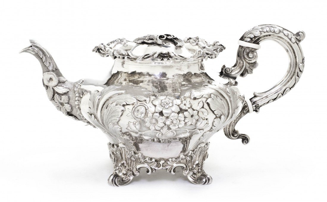958: An English Silver Teapot, Samuel Hayne & Dudley Ca
