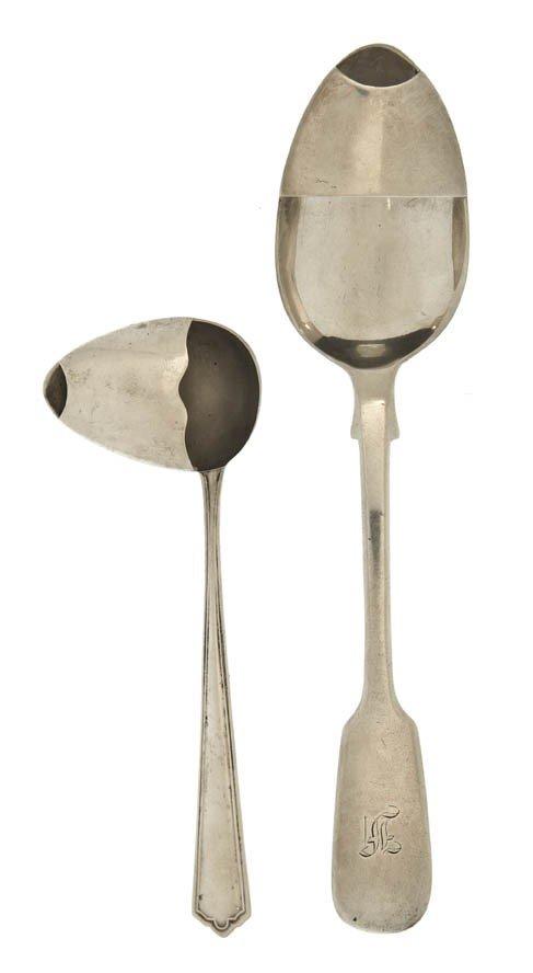 961: An English Silver Medicine Spoon, Robert Wallis, L