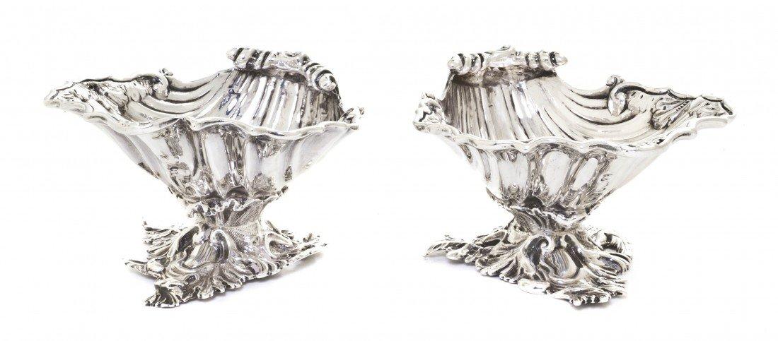 964: A Pair of English Silver Master Salts, Daniels & C