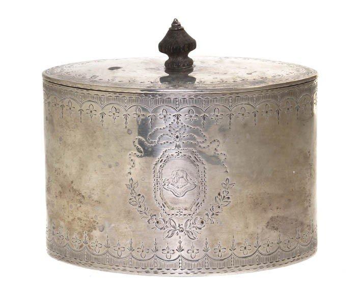 968: An English Silver Tea Caddy, Henry Holland, Width