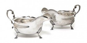 A Pair Of English Silver Sauce Boats, Peter Guille