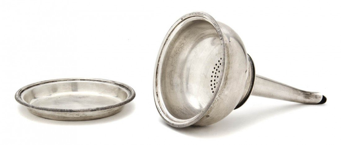 996: An English Silver Wine Funnel, Height 4 3/4 inches