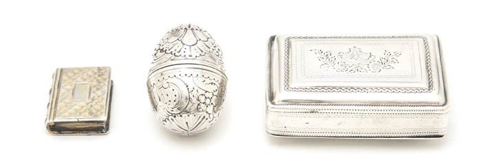 997: Three English Silver Pocket Articles, Height 1 1/2