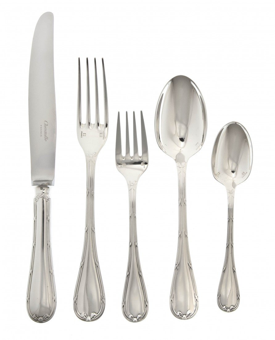 1016: A French Silverplate Flatware Service for Ten, Ch