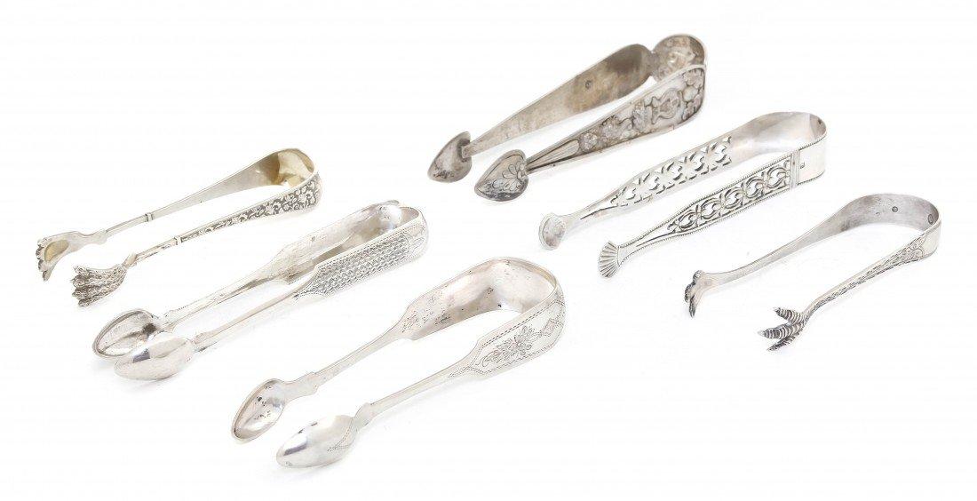 1059: Three Danish Silver Sugar Tongs, Length of longes