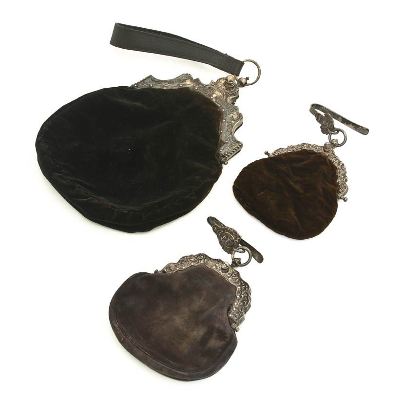 1064: Two Continental Silver Mounted Purses, Tallest ov