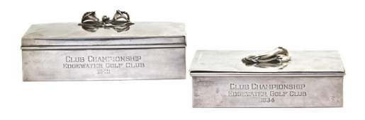 1216 Two American Sterling Silver Boxes SpauldingGor