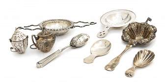1292: A Collection of American Sterling Silver Tea Arti