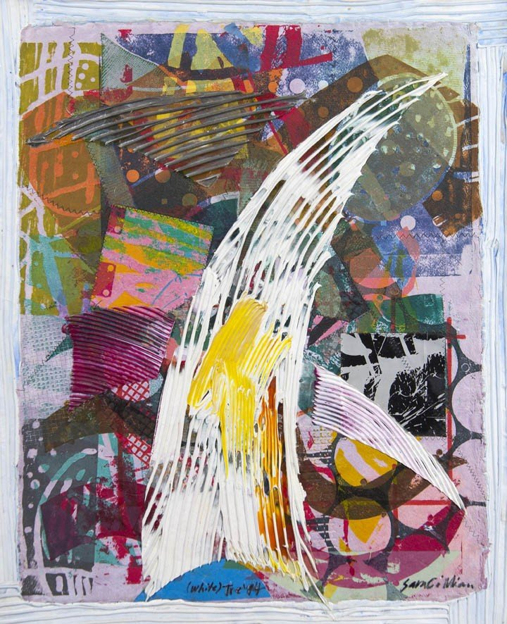2: Sam Gilliam, (American, b. 1933), (White) Tre, 1994