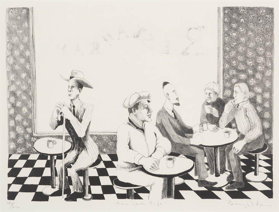 14: Benny Andrews, (American, 1930-2006), New York Cafe