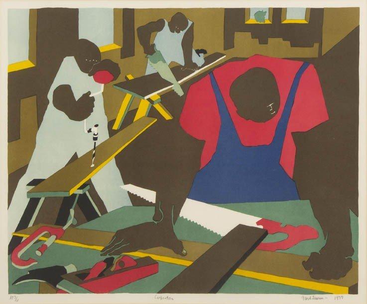 16: Jacob Lawrence, (American, 1917-2000), Carpenters,