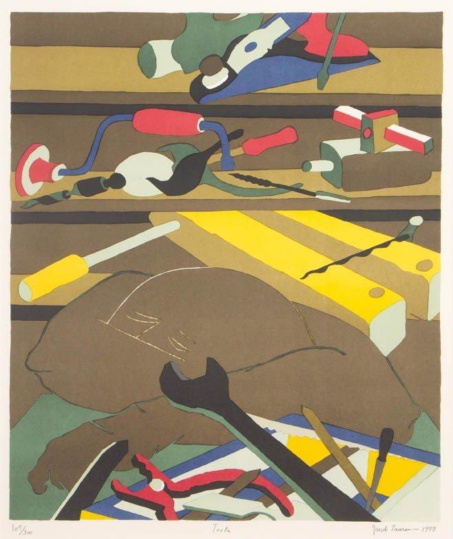 17: Jacob Lawrence, (American, 1917-2000), Tools, 1977