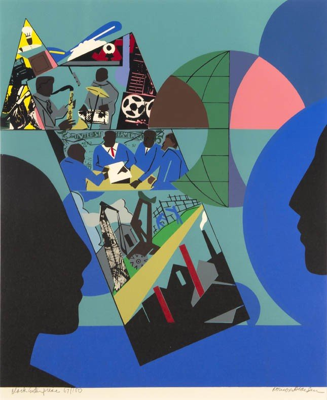 33: Romare Bearden, (American, 1911-1988), Black Enterp