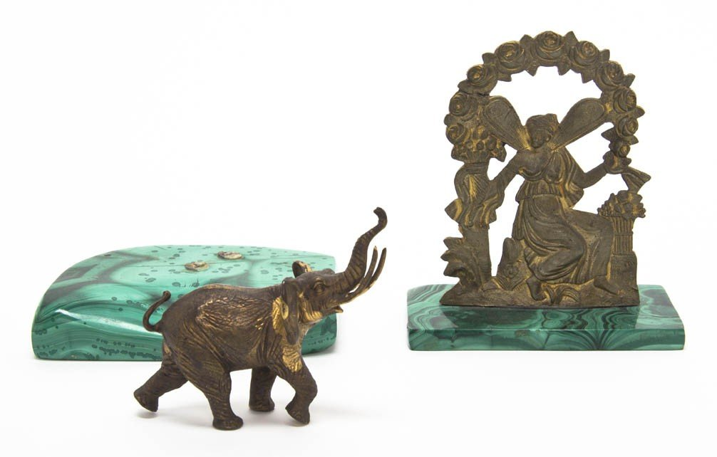 2006: Two Brass and Malachite Desk Articles, Height of