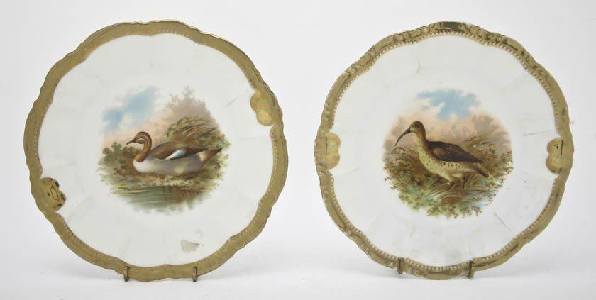2009: Two Bavarian Porcelain Cabinet Plates, Diameter 9