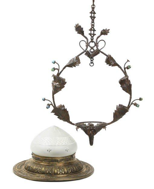 2013: A Neoclassical Style Brass Two-Light Fixture, Dia