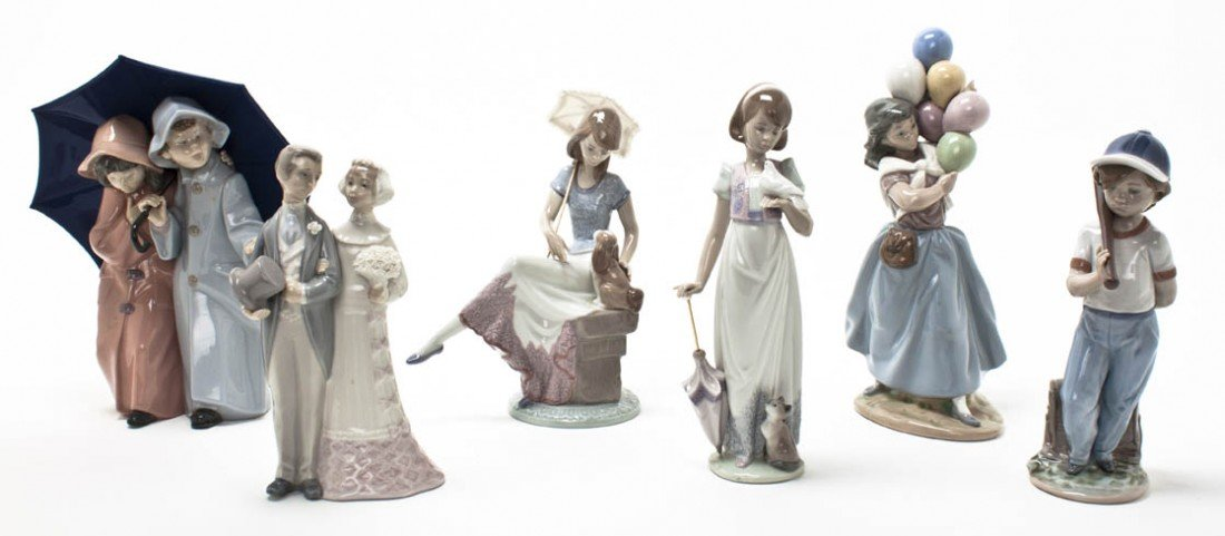 2020: A Collection of Six Lladro Porcelain Figures, Hei
