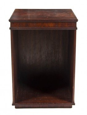 2335: A Mahogany Pedestal Cabinet, Height 36 1/4 x widt