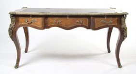 A Louis XV Style Parquetry And Gilt Bronze Mounte