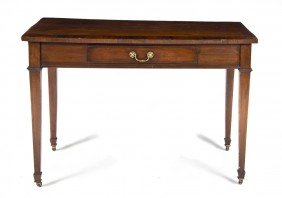An English Mahogany Writing Desk, Height 30 X Wid