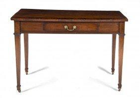 2339: An English Mahogany Writing Desk, Height 30 x wid