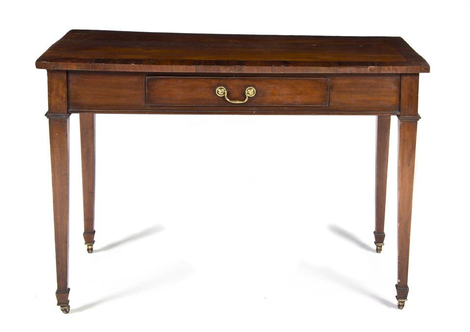 2339: An English Mahogany Writing Desk, Height 30 x wid