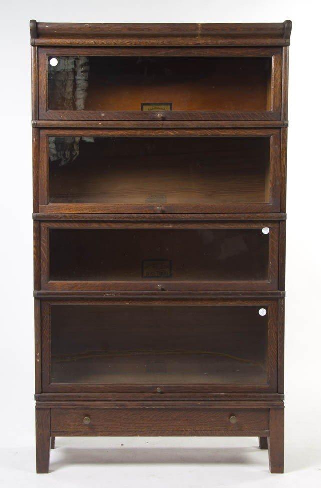 2341: An American Oak Barrister Bookcase, Globe-Wernick