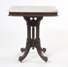 An Eastlake Victorian Mahogany Occasional Table,