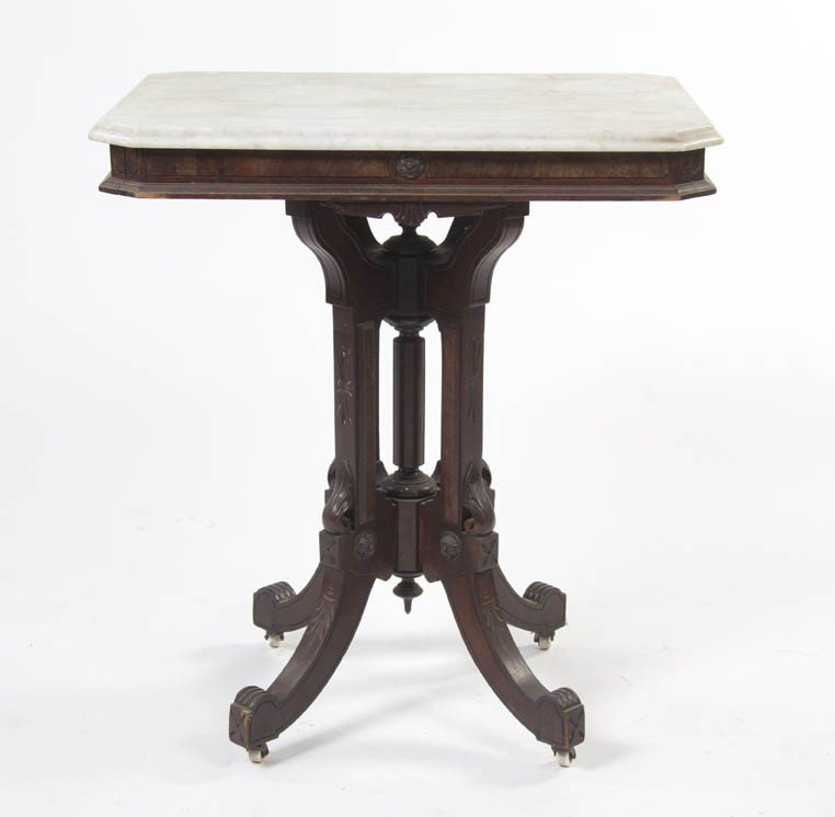 2342: An Eastlake Victorian Mahogany Occasional Table,