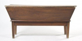 A French Provincial Walnut Doughbox, Height 19 1/
