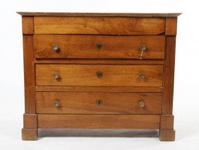 2348: A Continental Mahogany Chest, Height 35 1/2 x wid
