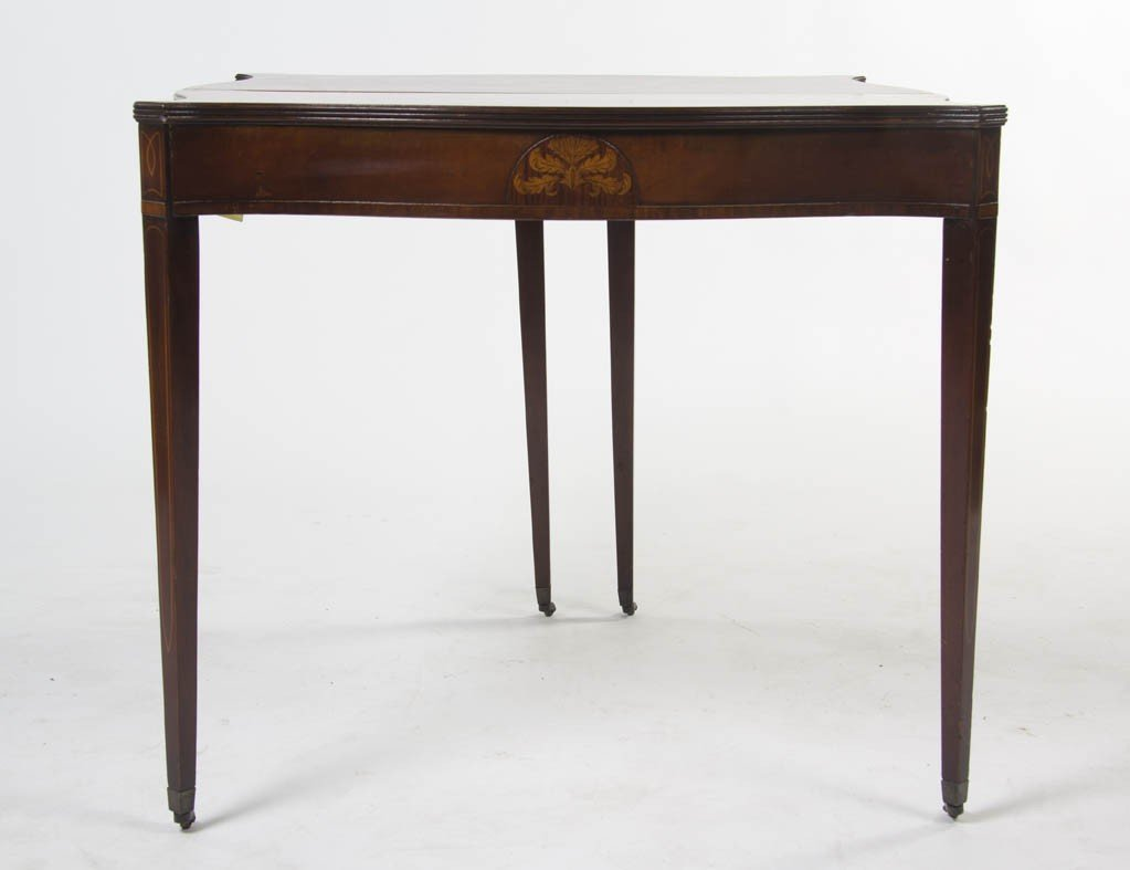 2353: A Federal Style Mahogany Games Table, Height 27 3