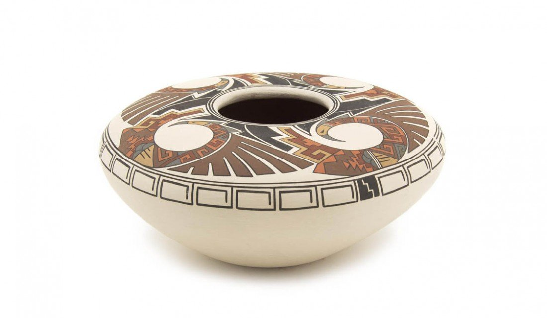 5: A Hopi Seed Jar, Height 5 x diameter 9 inches.