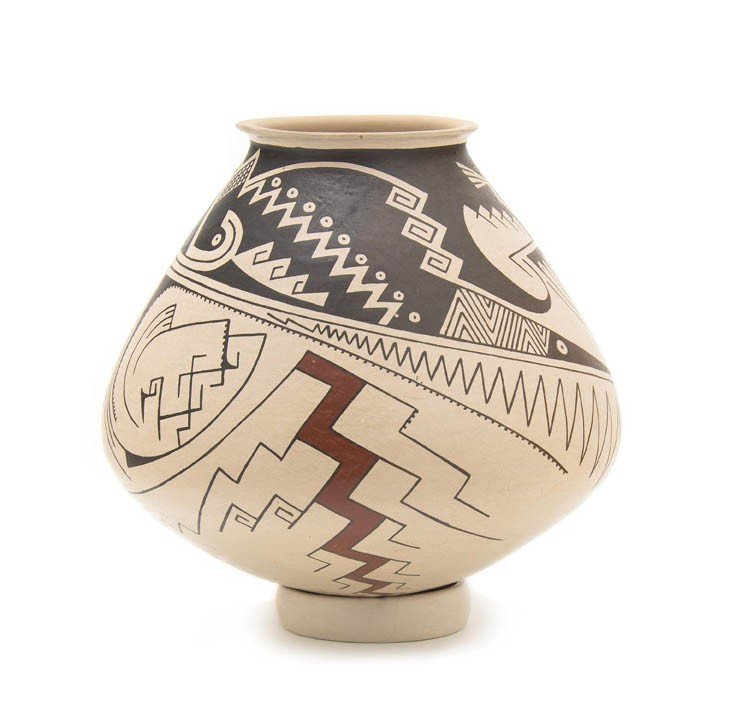 14: A Casa Grande Buff and Brown Polychrome Bowl, Heigh