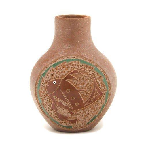 115: Picuris Pueblo Pot, Height 4 1/2 x width 3 1/2 inc