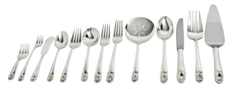 230: An American Sterling Silver Partial Flatware Servi
