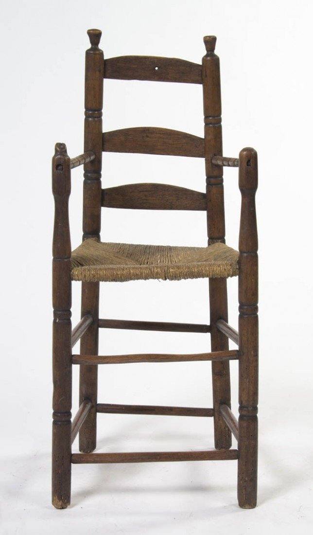 2005: A Provincial Ladder Back Child's Chair, Height 35