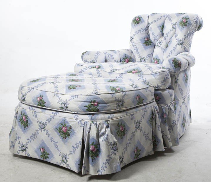 2022: A Contemporary Upholstered Armchair, Height 35 1/