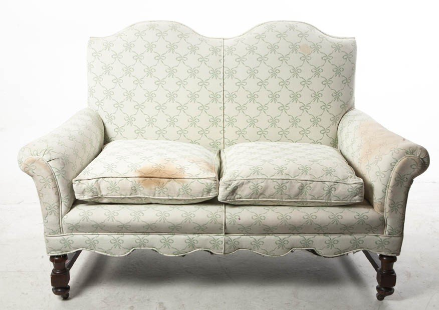 2023: A Georgian Style Upholstered Double Back Settee,