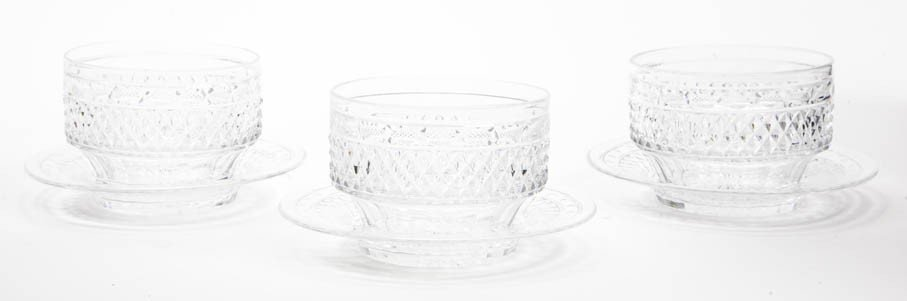 2081: A Set of Ten Cut Glass Bowls and Underplates, Dia