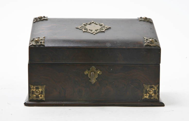 2086: A Burlwood and Gilt Metal Mounted Stationery Box,